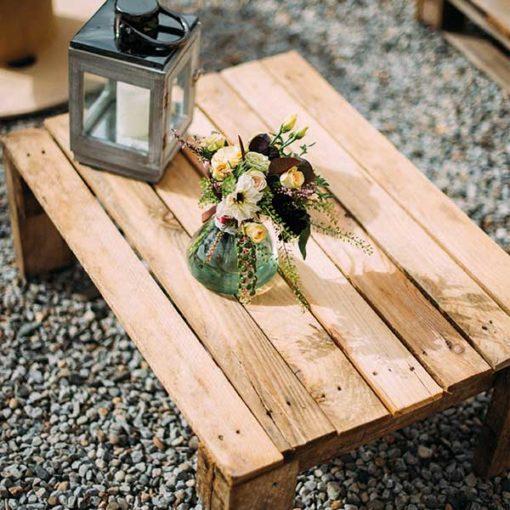 table basse en palette Mariage