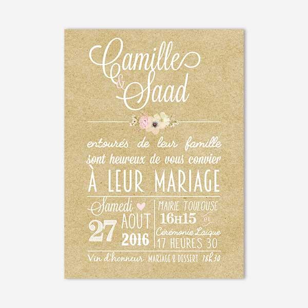 Faire Part De Mariage Mademoiselle Dentelle