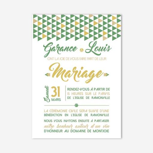 faire part de mariage graphic