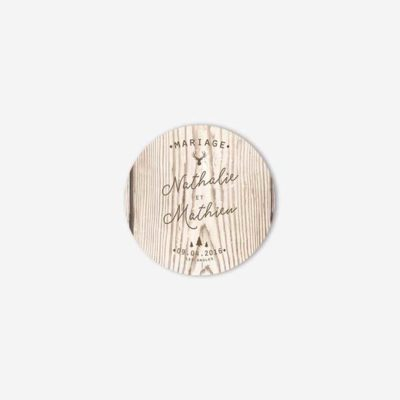 badge mariage hiver