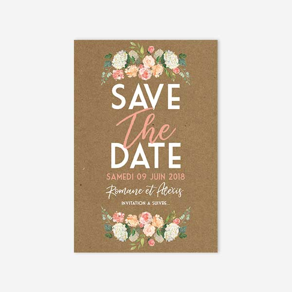 Save The Date Jardin Anglais