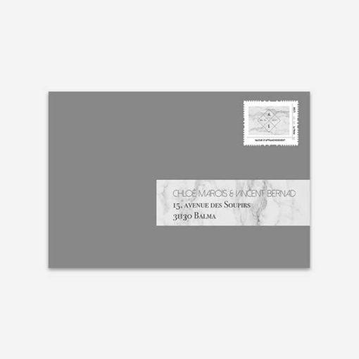 visuel timbre marbre