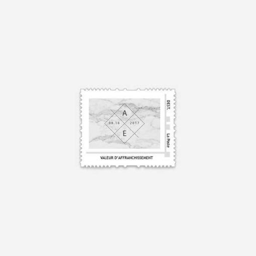 timbre poste marble