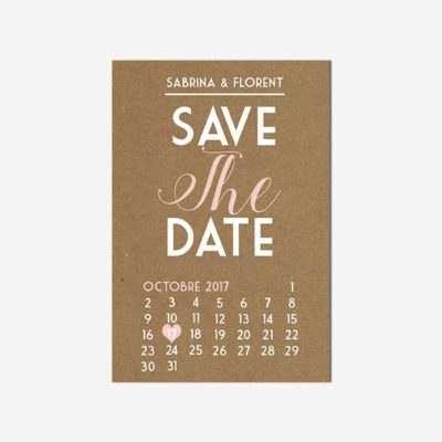 Save the date marsala