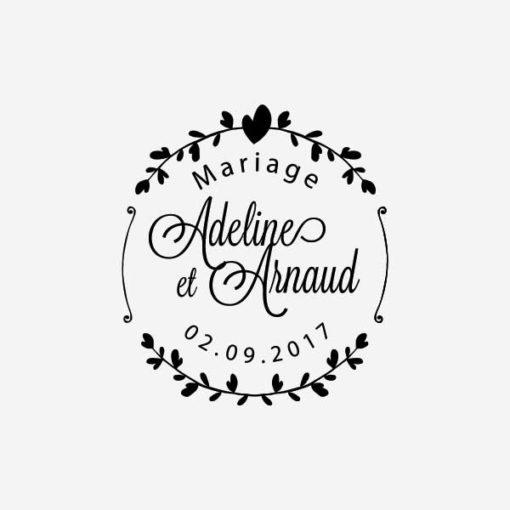 tampon de mariage fleur