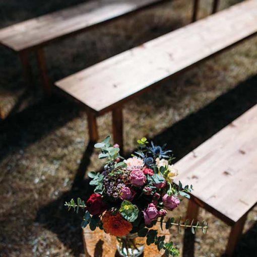 location banc en bois mariage toulouse