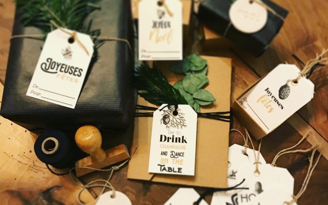 Etiquettes de cadeaux de Noel à imprimer