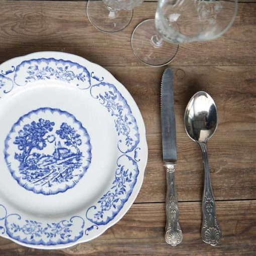 assiette vintage bleue location toulouse