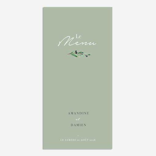 menu provence olivier feuillage