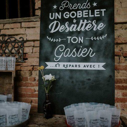 Panneau mariage Ecocup