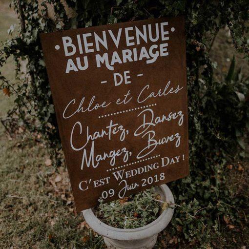 Panneau Mariage Bienvenue