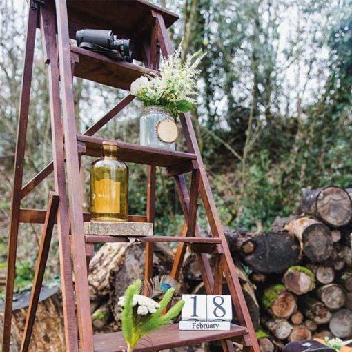 échelle en bois location mariage