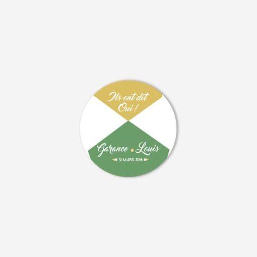 badge mariage graphic