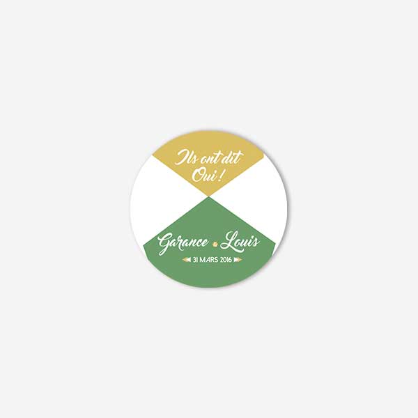 badge mariage graphic