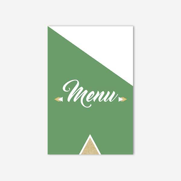 menu mariage graphic