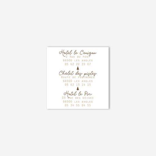 coupon hébergement mariage hiver