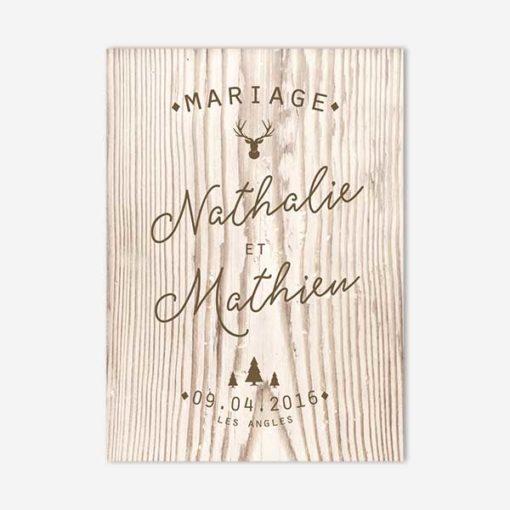 faire part mariage hiver