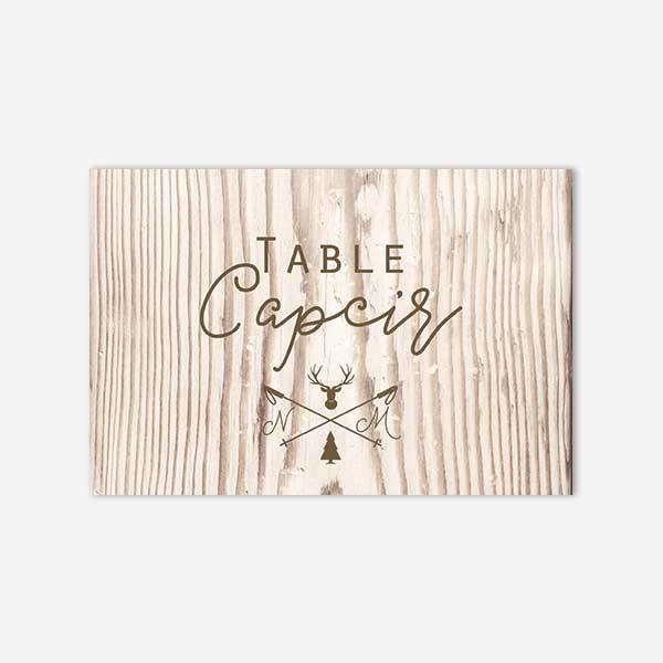 nom de table mariage hiver