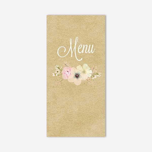 menu mariage dentelle