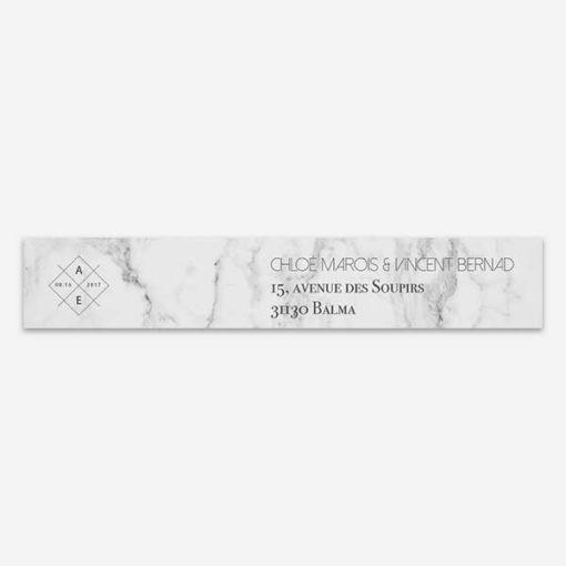 étiquette enveloppe marbre