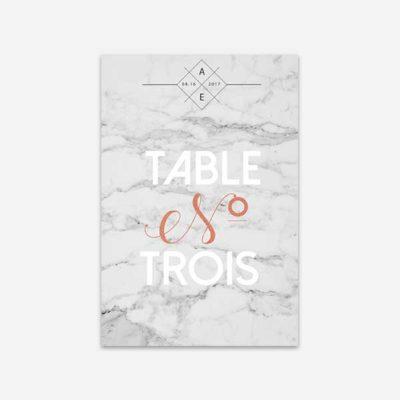 numero de table marbre