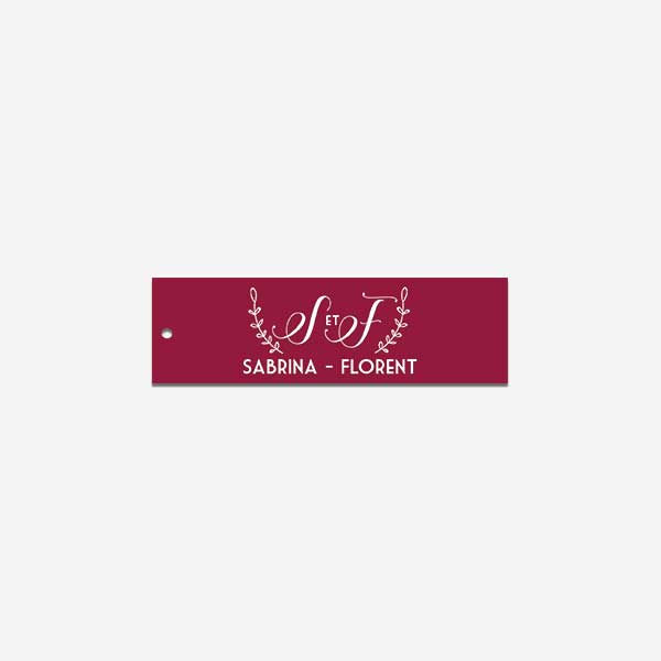 étiquette des mariés marsala