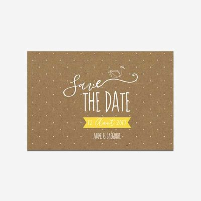 save the date origami