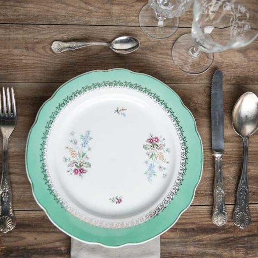 assiette vintage verte location toulouse