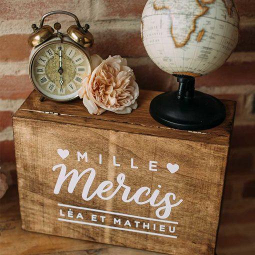 urne personnalisée de mariage