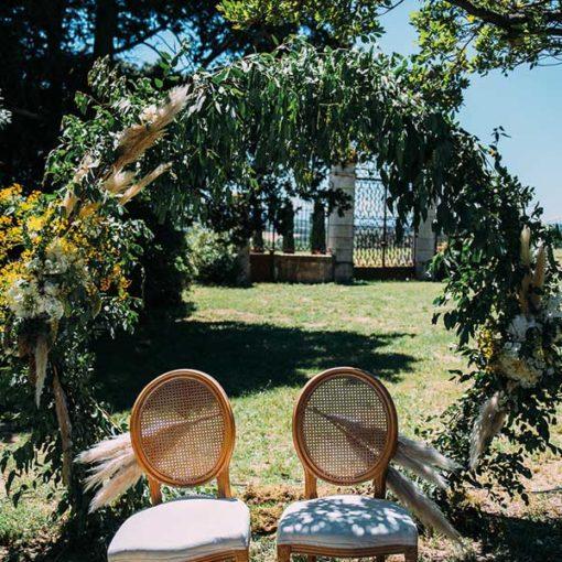 arche ronde cérémonie mariage