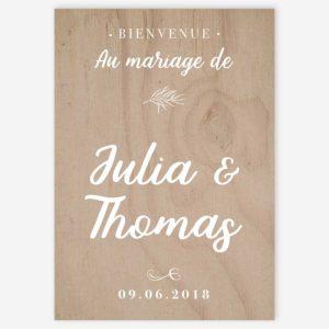 panneau d'accueil bienvenue mariage champêtre