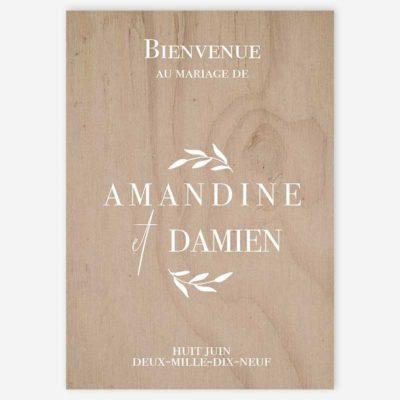 panneau d'accueil bienvenue mariage Provence olivier