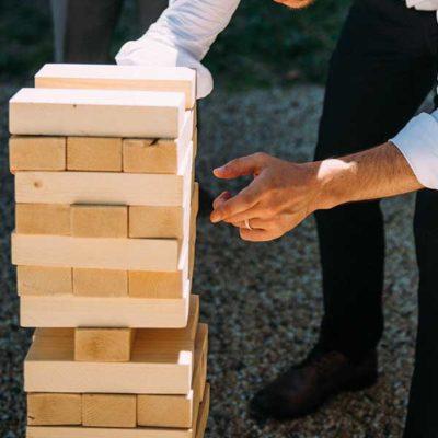 location jeux en bois mariage Jenga géant