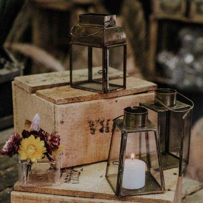 lanterne laiton doré