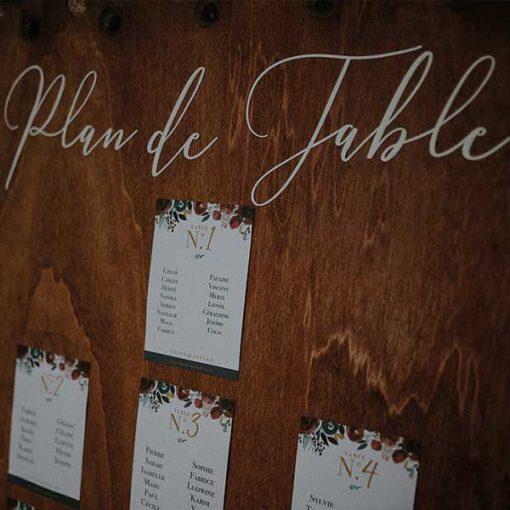 planche pour plan de table, lumières