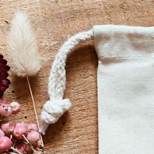 pochon en lin personnalisé pour cadeaux de mariage