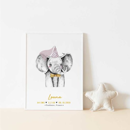 Affiche enfant éléphant