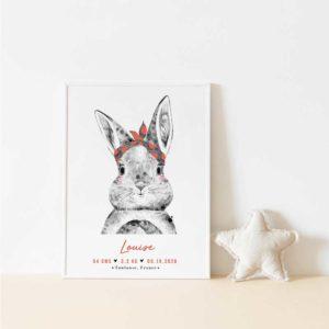 affiche enfant lapine