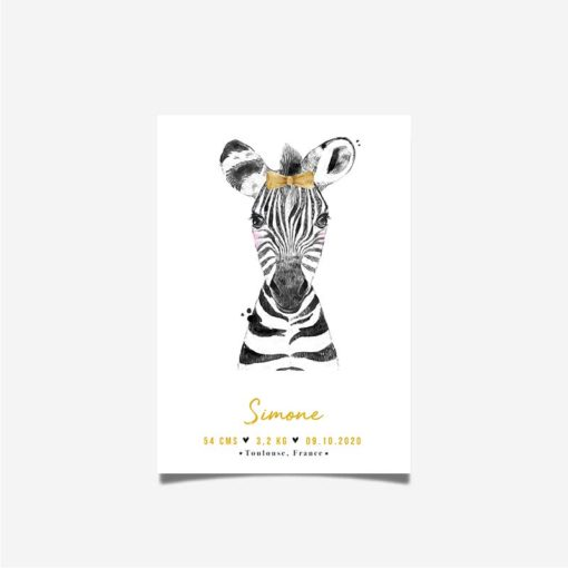 affiche enfant zebre