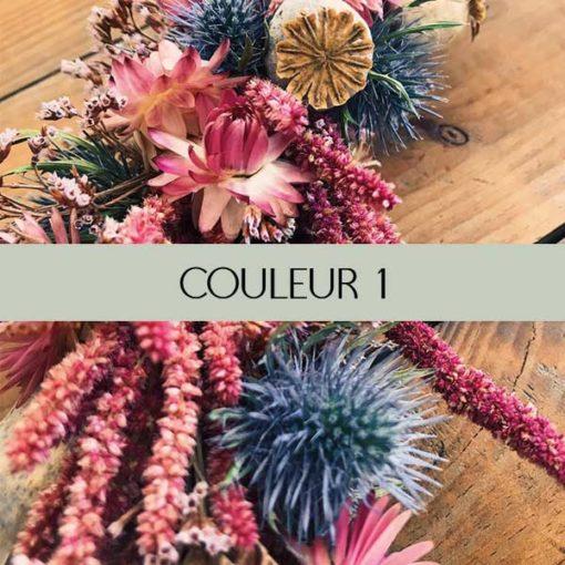 couleurs fleurs séchées