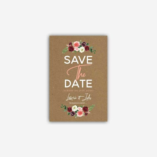 save the date fleurs