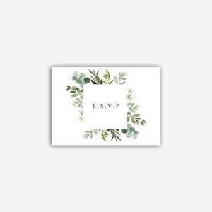 rsvp mariage faire part eucalyptus provence olive