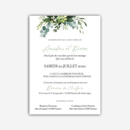 faire part mariage provence olivier sud vert amande