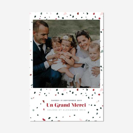 remerciement mariage Terrazzo