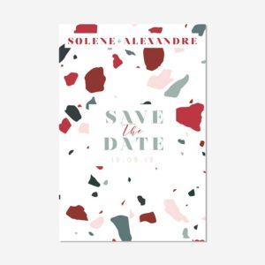 save the date Terrazzo