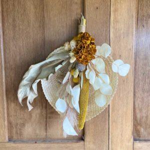 palme fleurie en osier