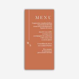 menu mariage terracotta