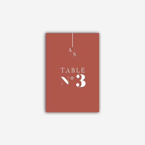 nom de table terracotta