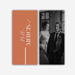 remerciement mariage terracotta