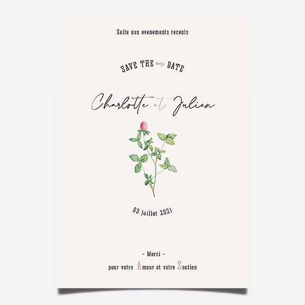 report mariage save the new date change the date Herbier